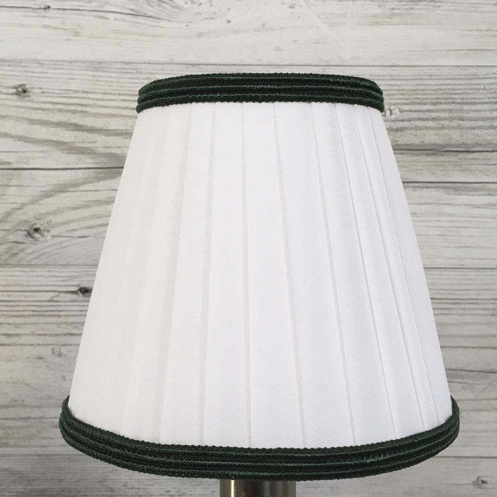 Ribbon Candle Shade White & Green